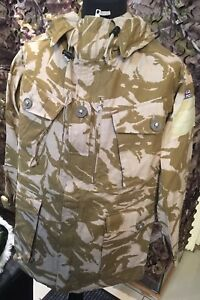 New British Army Issue Desert DP Windproof FR Aircrew Combat Smock With Panels