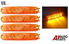 4x 12V 24V SMD 10 LED AMBER SIDE MARKER LIGHTS POSITION TRUCK TRAILER LORRY