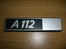 Emblem / Badge Autobianchi A 112 Plastik ca. 15 cm lang
