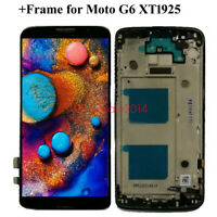 LCD SCREEN DIGITIZER TOUCH+(FRAME) REPLACEMENT For Motorola Moto G6 XT1925-6 US