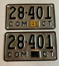 1948 Connecticut License Plate Pair Plates Commercial Pickup Truck Repaint