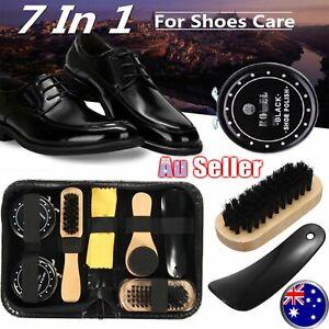 8Pcs Leather Bag Boots Shoes Sneakers Shoe Shine Care Kit Polish with Brush Set
