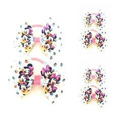 Fatto a mano per neonate API GIALLA Capelli Bow Bobbles venduti in coppia