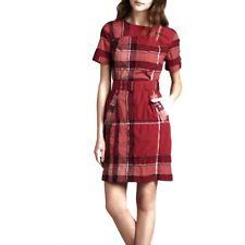 BURBERRY Plaid Print Mini Dress Size: M   US 6 $877