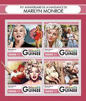 Guinea 2016 MNH Marilyn Monroe 90th 4v M/S Celebrities Film Movie Stars Stamps