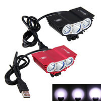 Cycling Bike Front Light Lamp Waterproof Road Bicycle Head Lamp USB Charge Light