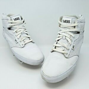 Vans Off The Wall High Top Triple White Skateboarding Shoes Size US 13 EUR 47