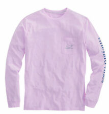 Vineyard Vines T-shirt, Adult Medium, Pink/ Purple, Whale & Front Pocket, NWT