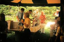 Vtg 35mm 1974 Color Photo Slide Wedding Reception drink table alcohol style