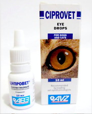 CIPROVET EYE DROPS for cats,dogs pet bactericidal and anti inflammatory 10 ml