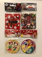 10 Marvel/Disney Christmas Gift Tags New Cheap Packs Of 10