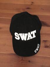 Swat  Hat Baseball Cap Black White Adjustable Trucker