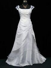 Cherlone White Satin Ballgown Wedding Evening Formal Bridesmaid Party Dress 8