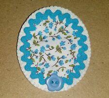 LIQUIDACIÓN Lote 8 broches de fieltro, tela, ondulina y botones camafeo diy cute