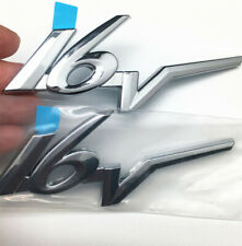 PAIR OF 3D 16V LOGO CHROME BADGE ABS EMBLEM FIT FOR MOST CAR AUTO FREE SHIPPING