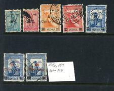 Angola Scott # 294a, 297, 301 - 304 - Used - 6 Overprints