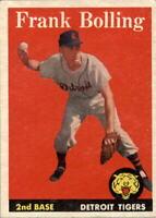1958 Topps #95 Frank Bolling - EX