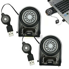 2X Mini Vacuum USB Cooler Air Extracting Cool Fan for Notebook Laptop computer
