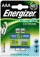 2 x Energizer AAA Akku 800mAh Extreme HR03 Blister OVP Micro Accu NEU Telefon