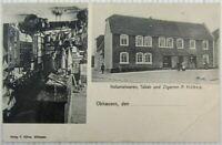 AK Obhausen bei Querfurt 1909 Kolonialwaren Tabakgeschäft Höhne
