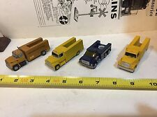 Vintage Toy Trucks for display / use Model Train Layout Lot of Four
