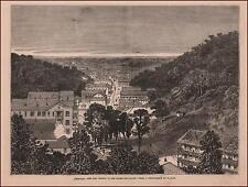 ARKANSAS, HOT SPRINGS, OZARK MOUNTAINS by Jump, antique engraving original 1876