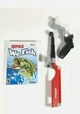 Rapala We Fish w/ Fishing Rod Accessory for Nintendo Wii TESTED