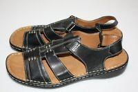 Naturalizer Womens Natural Soul Size 9 M Black Strappy Sandals Elastic