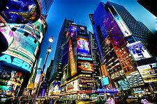 "Times Square Art Canvas Picture 16""X20""  Asda New York Cityscape Canvas Pictures"