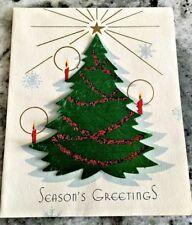 Season's Greetings Christmas Tree Card A Doehla Fine Arts 1951