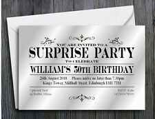 40 PARTY INVITATIONS PERSONALISED 18th 21st 30th 40th 50th 60th SURPRISE Invites