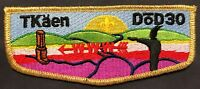 TKAEN DOD OA LODGE 30 BSA FIVE RIVERS COUNCIL NY 186 GMY FF S1 FIRST FLAP TOUGH!