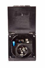MAINS INLET 16 AMP 230V FLUSH BOX BLACK Caravan Motorhome Campervan 16A HOOK-UP