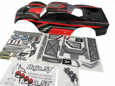 1/5 Scale Rovan Terminator Truck Body (black & red ) Fits HPI Baja 5T KM T1000