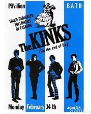 The Kinks Vintage Rock Music Concert Poster Bath 1966 Reprint