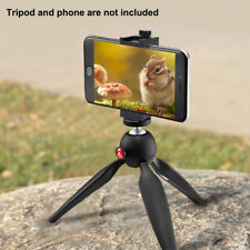 Tripod Selfie With Cold Shoe Mount Smartphone Clip Holder Adapter Grip for Photo