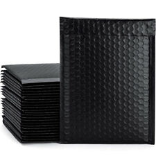 Poly Bubble Mailers Bags Shipping Postage Express Envelope Matte Black Any Size
