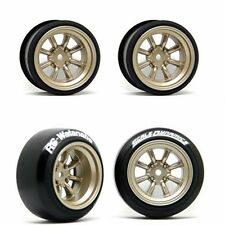 Scale Dynamics  10111  V16D RS Watanabe wheels Gold 9mm Offset
