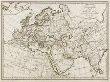 1809, Carte ancienne Europe Moyen Âge, Malte-Brun Lapie