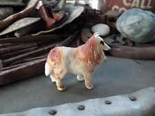 Vintage Plastic Collie Sheltie Lassie Dog Figurine Hong Kong