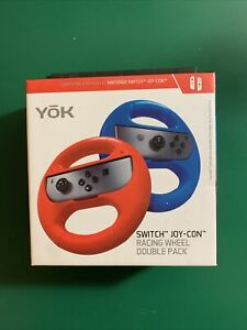YOK Switch Joy-con Racing Wheel for Switch  Double Pack NIB.