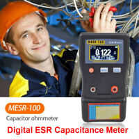 MESR-100 Portble ESR Capacitance Meter Resistance Capacitor Circuit Tester Meter