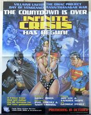 INFINITE CRISIS RETAILER PROMO POSTER Superman Batman Wonder Woman