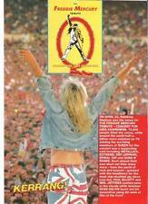 FREDDIE MERCURY TRIBUTE 12 page Kerrang Fan Mag UK magazine
