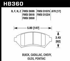 Hawk Performance HB360F.670 Front High Performance Brake Pads