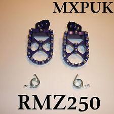 RMZ250 2014 Repose-pieds en bleu mxpuk extra large repose pied 2013 (566)