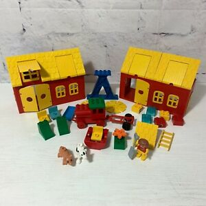 Vintage Duplo Lego Farm Incomplete Bundle. 1980s and Modern Mixed Lot
