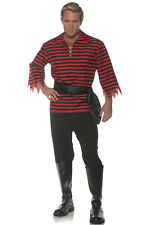 Striped Pirate Buccaneer Adult Costume (Black/Red)
