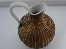 Vase Hutschenreuther Selb weiß Porzellan gold braun mit Henkel 16 cm hoch