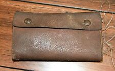 Vintage Fly Fishing LEATHER FLY WALLET / Book with 17 Hand-Tied FLIES & Extras